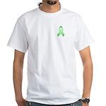Light Green Awareness Ribbon White T-Shirt