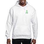 Light Green Awareness Ribbon Hooded Sweatshirt