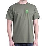 Light Green Awareness Ribbon Dark T-Shirt