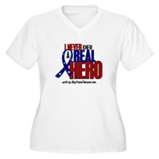 Never Knew A Hero 2 Military (Boyfriend) T-Shirt