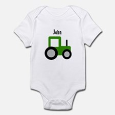 John - Green Tractor Infant Bodysuit
