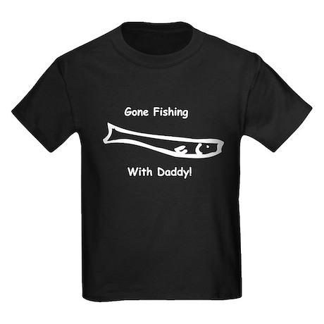 Gone Fishing with Daddy! Kids Dark T-Shirt