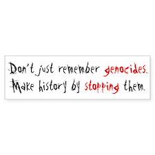 Activism Stop Genocide Bumper Bumper Sticker