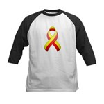 Red and Yellow Awareness Ribbon Kids Baseball Jers