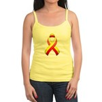 Red and Yellow Awareness Ribbon Jr. Spaghetti Tank