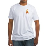 Red and Yellow Awareness Ribbon Fitted T-Shirt