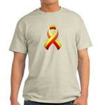 Red and Yellow Awareness Ribbon Light T-Shirt