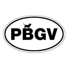 PBGV (Petit Basset Griffon Vendeen) Oval Decal