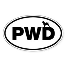 PWD (Portuguese Water Dog) Oval Decal