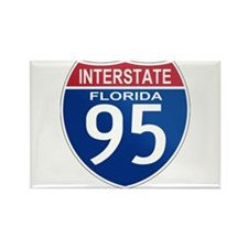 I-95 Florida Rectangle Magnet