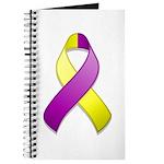 Purple and Yellow Awareness Ribbon Journal