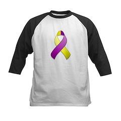 Purple and Yellow Awareness Ribbon Kids Baseball J