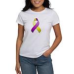 Purple and Yellow Awareness Ribbon Women's T-Shirt