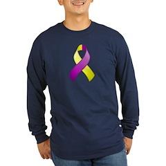 Purple and Yellow Awareness Ribbon T