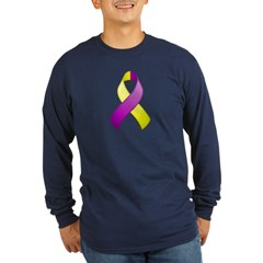 Purple and Yellow Awareness Ribbon T