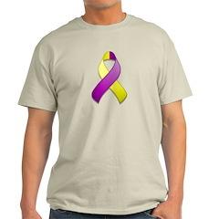 Purple and Yellow Awareness Ribbon T-Shirt