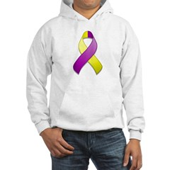 Purple and Yellow Awareness Ribbon Hoodie