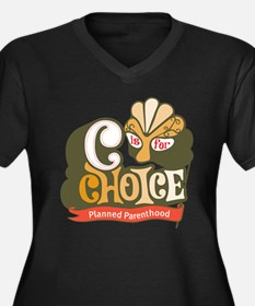 C is for Choice Women's Plus Size V-Neck Dark T-Sh