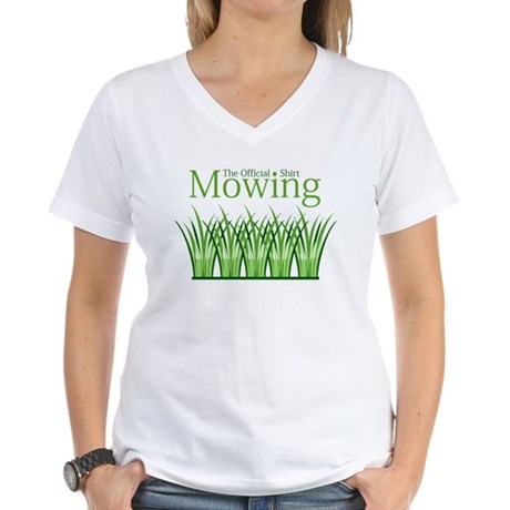The Official Mowing Shirt Women's V-Neck T-Shirt