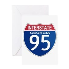 I-95 Georgia Greeting Card