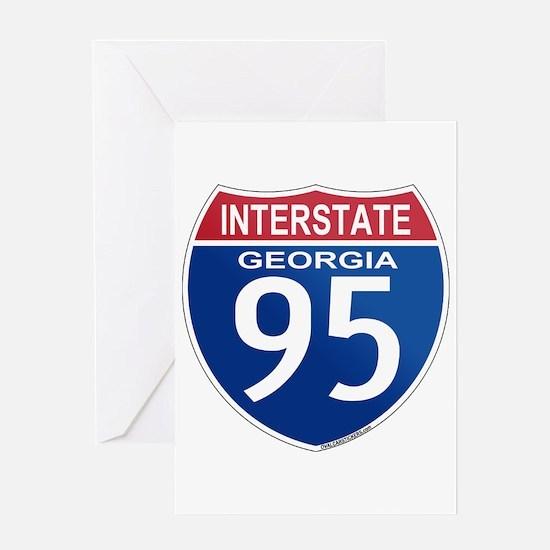 I-95 Georgia Greeting Card