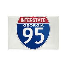 I-95 Georgia Rectangle Magnet