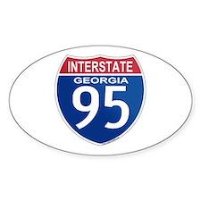 I-95 Georgia Oval Decal