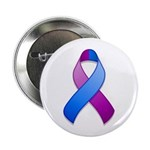 "Blue and Purple Awareness Ribbon 2.25"" Button (10"