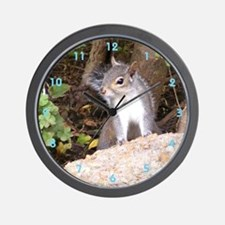 Pretty Squirrel Wall Clock