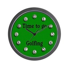 Time to go golfing Wall Clock