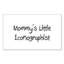 Mommy's Little Iconographist Rectangle Sticker