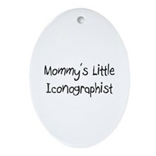 Mommy's Little Iconographist Oval Ornament