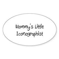 Mommy's Little Iconographist Oval Sticker