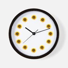 Sunflower Gardener Wall Clock
