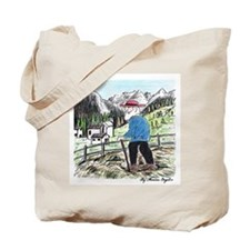 Looking Over The Mountains Tote Bag
