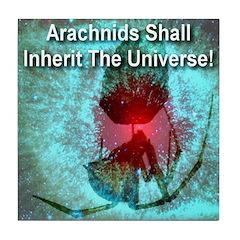 Arachnids Shall Inherit The U Tile Coaster