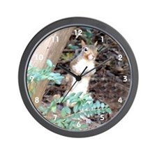 Squirrel Peeking Wall Clock