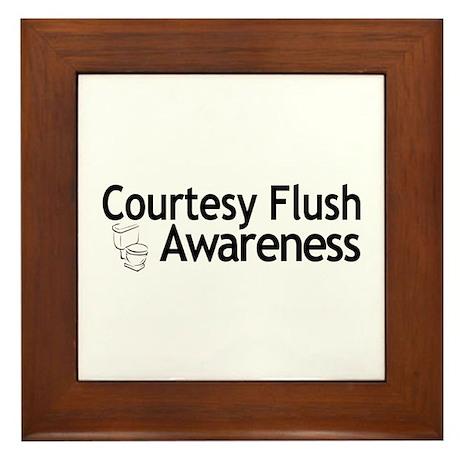Courtesy Flush Awareness Framed Tile