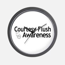 Courtesy Flush Awareness Wall Clock