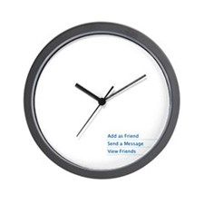 Add as Friend Wall Clock