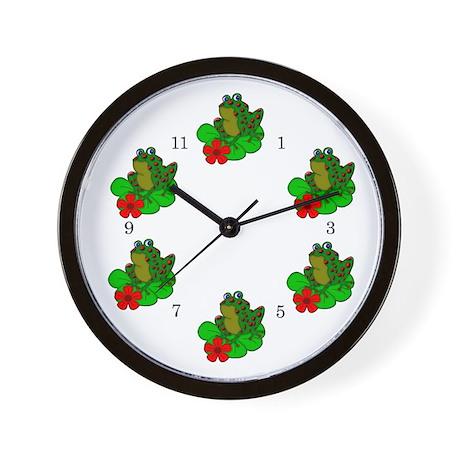 Frog and Lily Pad Wall Clock