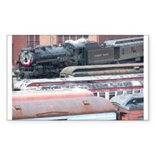 Steamtown Steam Rectangle Decal