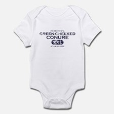 Property of Green Cheeked Conure Infant Bodysuit