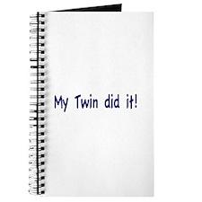 My Twin did it Journal