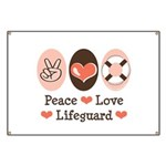 Peace Love Lifeguard Lifeguarding Banner