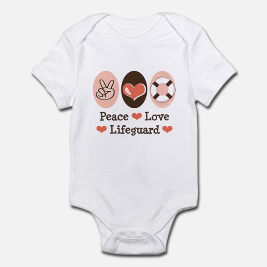 Peace Love Lifeguard Lifeguarding Infant Bodysuit