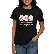 Peace Love Lifeguard Lifeguarding T-Shirt