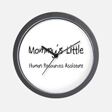 Mommy's Little Human Resources Assistant Wall Cloc