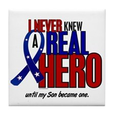 Never Knew A Hero 2 Military (Son) Tile Coaster