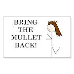 BRING THE MULLET BACK Rectangle Sticker 50 pk)